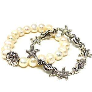 Stackable sea life themed bracelets